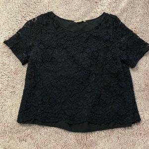 Lace Black Shirt